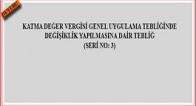 KDV Genel Uyg. Tebliğ….