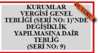 K.V. Gen.Teb.(S.1) Değ. Yap.Dair Teb.(S.No.9)