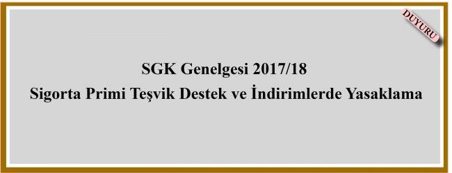SGK Genelgesi 2017/18
