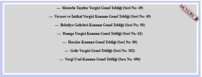 29 Aralık 2017 Tarihli ve 30285 Sayılı Resmî Gazete-Mükerrer' de yayımlanan Tebliğler.