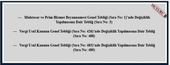 21 Aralık 2017 Tarihli ve 30277 Sayılı Resmî Gazete Yayımlanan Tebliğler.