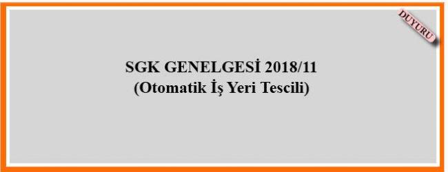 SDK Genelgesi 2018/11