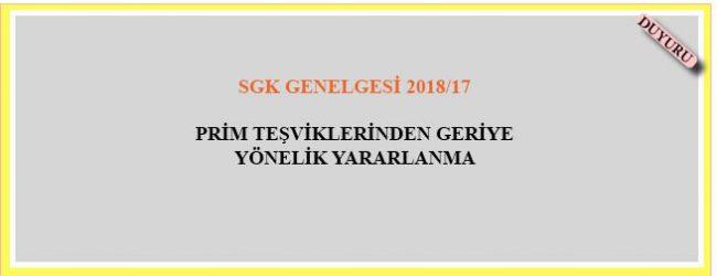 SGK Genelgesi  2018/17