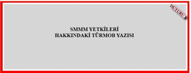 SMMM Yetkileri