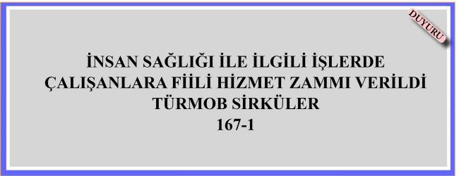 Türmob Sirküler 167-1