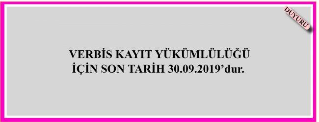 Verbis Kayıt Yükümlülüğü Hk.