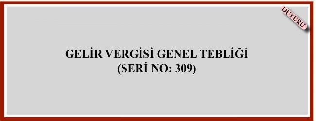 GELİR VERGİSİ GENEL TEBLİĞİ (SERİ NO: 309)