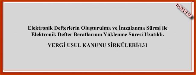 VERGİ USUL KANUNU SİRKÜLERİ/131