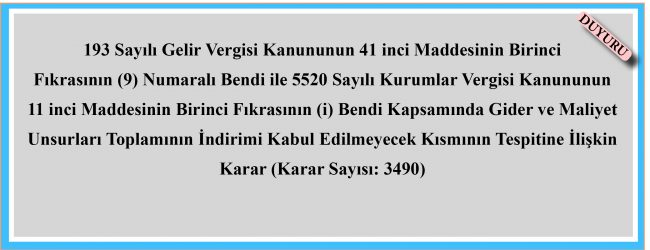 Karar 3490