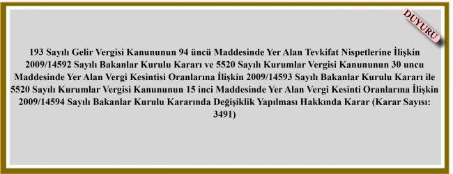 Karar 3491